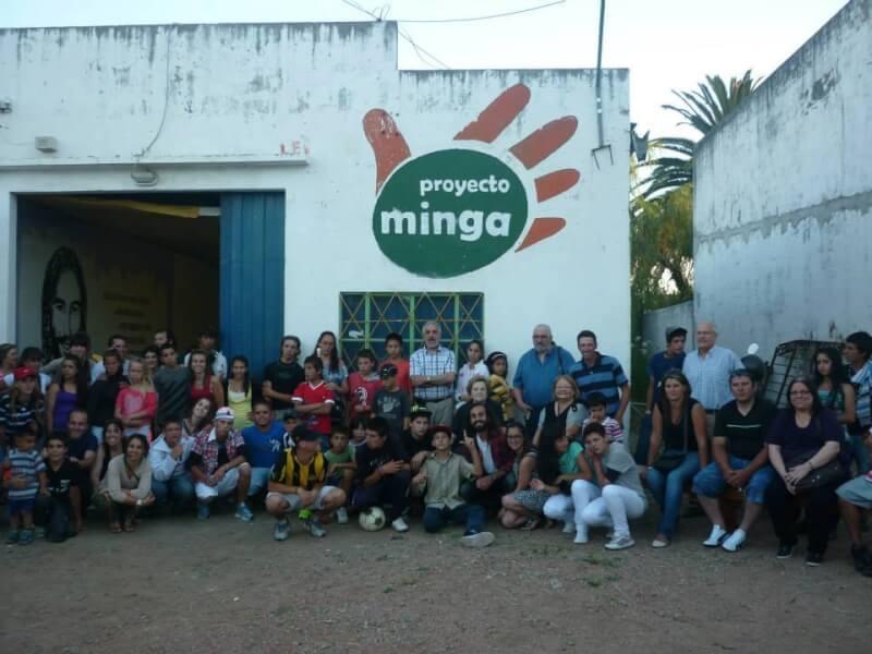 El primer patio de Minga en 2014