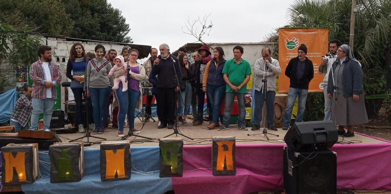 P. Mateo Méndez y educadores de Minga, 2019